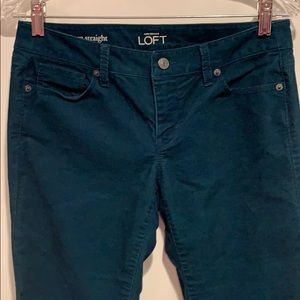 LOFT Pants - LOFT Teal Corduroy Pant modern straight 27/4P